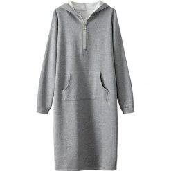 Sukienki: Sukienka-bluza, suwak z przodu, z kapturem
