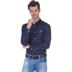 """Koszule męskie na spinki: Koszula """"Marker"""" w kolorze granatowym"""