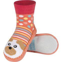 Soxo - Kapcie dziecięce. Szare kapcie dziewczęce marki Soxo, z gumy, z okrągłym noskiem. Za 24,99 zł.