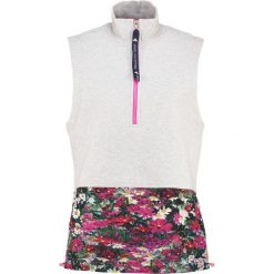 Topy sportowe damskie: adidas by Stella McCartney Top cool grey melange/shock pink
