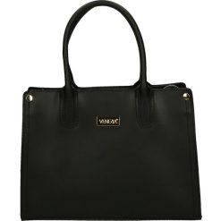 Torba - 170-003-O R N. Czarne torebki klasyczne damskie marki Venezia, ze skóry. Za 339,00 zł.