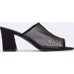 Chodaki damskie: NA-KD Shoes Klapki z siateczki - Black