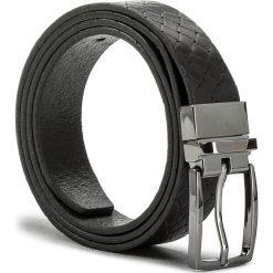 Pasek Męski JOOP! - 7206 100 Black A01. Czarne paski męskie marki JOOP!, w paski, ze skóry. W wyprzedaży za 199,00 zł.