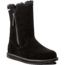 Buty EMU AUSTRALIA - Gravelly W11561 Black. Czarne buty zimowe damskie EMU Australia, ze skóry, na niskim obcasie. Za 809,00 zł.