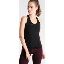 Adidas by Stella McCartney THE PERFORMANCE TANK Koszulka sportowa black. Czarne t-shirty damskie adidas by Stella McCartney, xs, z elastanu. W wyprzedaży za 183,20 zł.