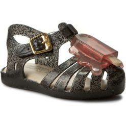 Sandały dziewczęce: Sandały MELISSA – Mini Melissa Aranha VIII BB 31704 Dark Grey/Pink 51980