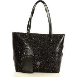 Shopper bag damskie: NOBO Elegancka torba na ramię shopper bag czarny