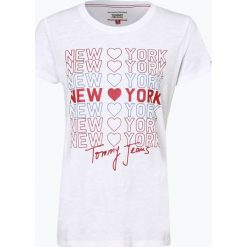 Tommy Jeans - T-shirt damski, czarny. Czarne t-shirty damskie marki Tommy Jeans, xs, z nadrukiem, z jeansu. Za 119,95 zł.