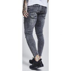 Jeansy męskie regular: SIKSILK SIKSILK DISTRESSED SKINNY Jeans Skinny Fit black