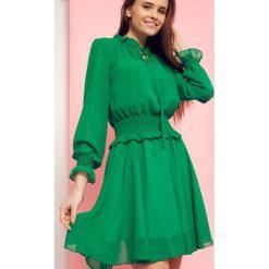 Sukienki hiszpanki: Sukienka z wiązaniem pod szyją Cocomore Boutiqe zielona