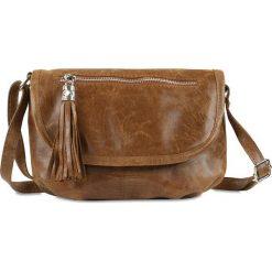 """Torebki klasyczne damskie: Skórzana torebka """"Maggie"""" w kolorze karmelowym – 27 x 19 x 4,5 cm"""