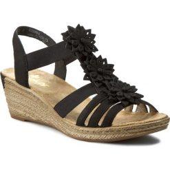 Rzymianki damskie: Sandały RIEKER – 62461-00 Black