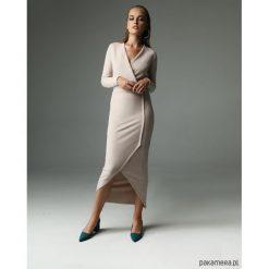 Sukienka Fern - nude. Szare długie sukienki Pakamera. Za 309,00 zł.