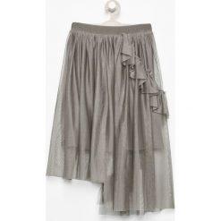 Spódniczki: Asymetryczna spódnica z tiulu - Khaki