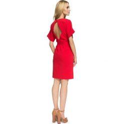 ISABELLE Sukienka z wycięciami na plecach - czerwona. Czerwone sukienki balowe Stylove, z dekoltem na plecach, proste. Za 159,90 zł.