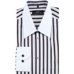 Koszula ARMANDO 13-04-11. Białe koszule męskie na spinki Giacomo Conti, m, w paski, z bawełny, z klasycznym kołnierzykiem. Za 149,00 zł.