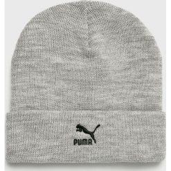 Puma - Czapka. Szare czapki zimowe męskie Puma, na zimę, z dzianiny. Za 89,90 zł.