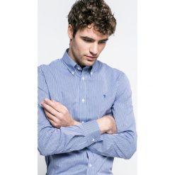 Trussardi Jeans - Koszula. Szare koszule męskie jeansowe marki Trussardi Jeans, button down, z długim rękawem. W wyprzedaży za 329,90 zł.