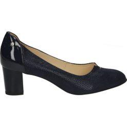 Czółenka - F961 BON BLU. Czarne buty ślubne damskie Venezia, ze skóry. Za 199,00 zł.