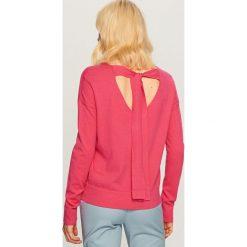Kardigany damskie: Gładki sweter - Różowy