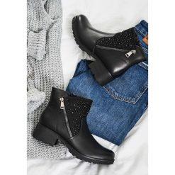 Czarne Botki Paris Love. Czarne buty zimowe damskie vices. Za 99,99 zł.