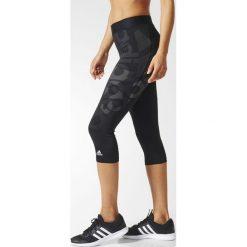 Legginsy sportowe. Czarne legginsy sportowe damskie marki adidas Performance, xs, z elastanu, z standardowym stanem. Za 161,66 zł.