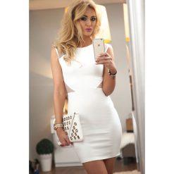 Sukienki: Sukienka mini kremowa 9633