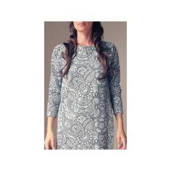 Sukienka raglan kwiaty szaro czarne. Szare sukienki dresowe marki bonprix, melanż, z kapturem, z długim rękawem, maxi. Za 209,00 zł.