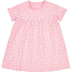 Sukienka w serduszka 1 miesiąc - 3 latka, Oeko Tex. Czerwone sukienki dziewczęce marki La Redoute Collections, z bawełny, z krótkim rękawem, krótkie, mini. Za 35,24 zł.