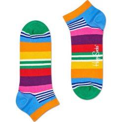 Happy Socks - Stopki Multi Stripe. Różowe skarpetki damskie Happy Socks, z bawełny. W wyprzedaży za 19,90 zł.
