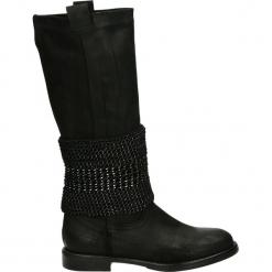 Kozaki - 10549 CRO NER. Czarne buty zimowe damskie Venezia, ze skóry. Za 299,00 zł.
