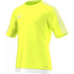 Odzież sportowa męska: Adidas Koszulka piłkarska męska Estro 15 żółty-biała r. L (S16160)