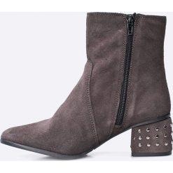 Tamaris - Botki. Szare buty zimowe damskie marki Tamaris, z materiału. W wyprzedaży za 159,90 zł.