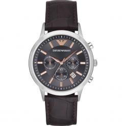 Zegarek EMPORIO ARMANI - Renato AR2513 Dark Brown/Silver/Steel. Brązowe zegarki męskie Emporio Armani. Za 1149,00 zł.