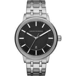 Armani Exchange - Zegarek AX1455. Czarne zegarki męskie marki Armani Exchange, l, z materiału, z kapturem. Za 799,90 zł.