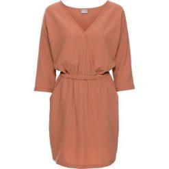 Sukienki: Sukienka bonprix matowy brzoskwiniowy