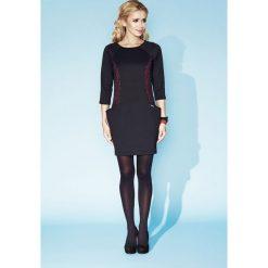 Sukienka ażurkowa verna. Czarne sukienki na komunię marki Zaps, l, w ażurowe wzory, z dekoltem na plecach, ołówkowe. W wyprzedaży za 69,00 zł.
