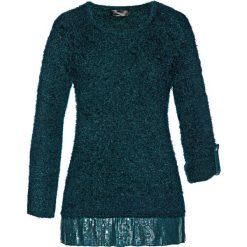 Swetry klasyczne damskie: Sweter bonprix głęboki zielony