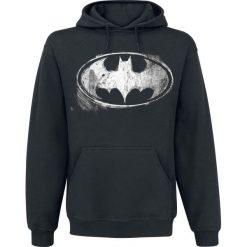 Bejsbolówki męskie: Batman Distressed Logo Bluza z kapturem czarny