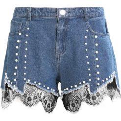 Bermudy damskie: Navy London BILLIE Szorty jeansowe blue