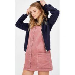 Bluzy damskie: Bluza z suwakiem i haftem