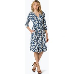Weekend MaxMara - Sukienka damska – Ursola, niebieski. Niebieskie sukienki WEEKEND MaxMara, l, w kwiaty, z jersey, z kopertowym dekoltem, kopertowe. Za 799,95 zł.