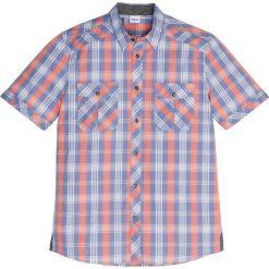 Koszula z krótkim rękawem Regular Fit bonprix matowy niebieski - mandarynka. Brązowe koszule męskie marki QUECHUA, m, z elastanu, z krótkim rękawem. Za 59,99 zł.