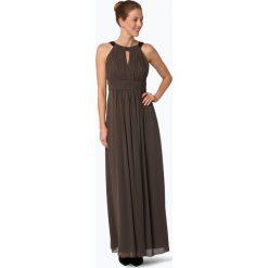 Marie Lund - Damska sukienka wieczorowa, beżowy. Brązowe długie sukienki Marie Lund, z szyfonu, eleganckie, z długim rękawem. Za 649,95 zł.
