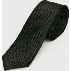 S. Oliver - Krawat. Czarne krawaty męskie s.Oliver BLACK LABEL, z jedwabiu. W wyprzedaży za 99,90 zł.