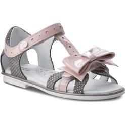 Sandały dziewczęce: Sandały BARTEK – 36182/1G7 Szaro Różowy