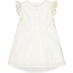 Sukienka w srebrne prążki 1 miesiąc - 3 lata. Szare sukienki dziewczęce marki La Redoute Collections, w prążki, z bawełny, z krótkim rękawem, krótkie, mini. Za 88,16 zł.