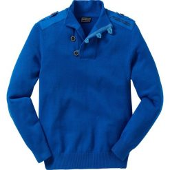"""Swetry męskie: Sweter """"Slim fit"""" bonprix lazurowy"""