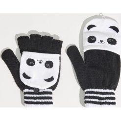 Akcesoria: Rękawiczki z pandą - Czarny