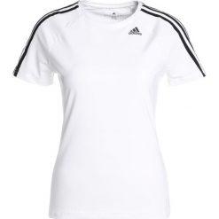 Adidas Performance TEE Tshirt z nadrukiem cacaca. Czerwone topy sportowe damskie marki adidas Performance, m. Za 129,00 zł.